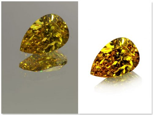 White background images like this highlight the facets of gemstones