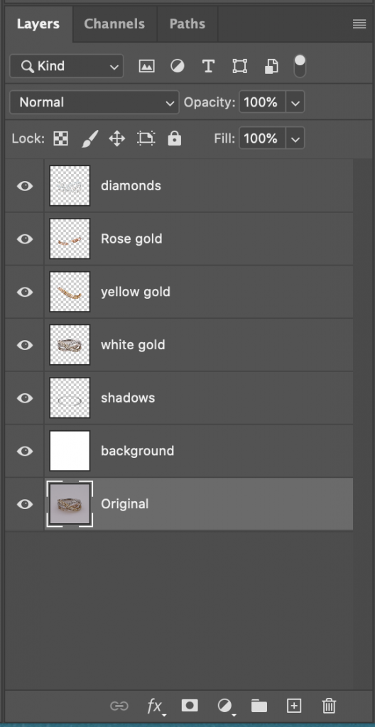 Create different layers for each path