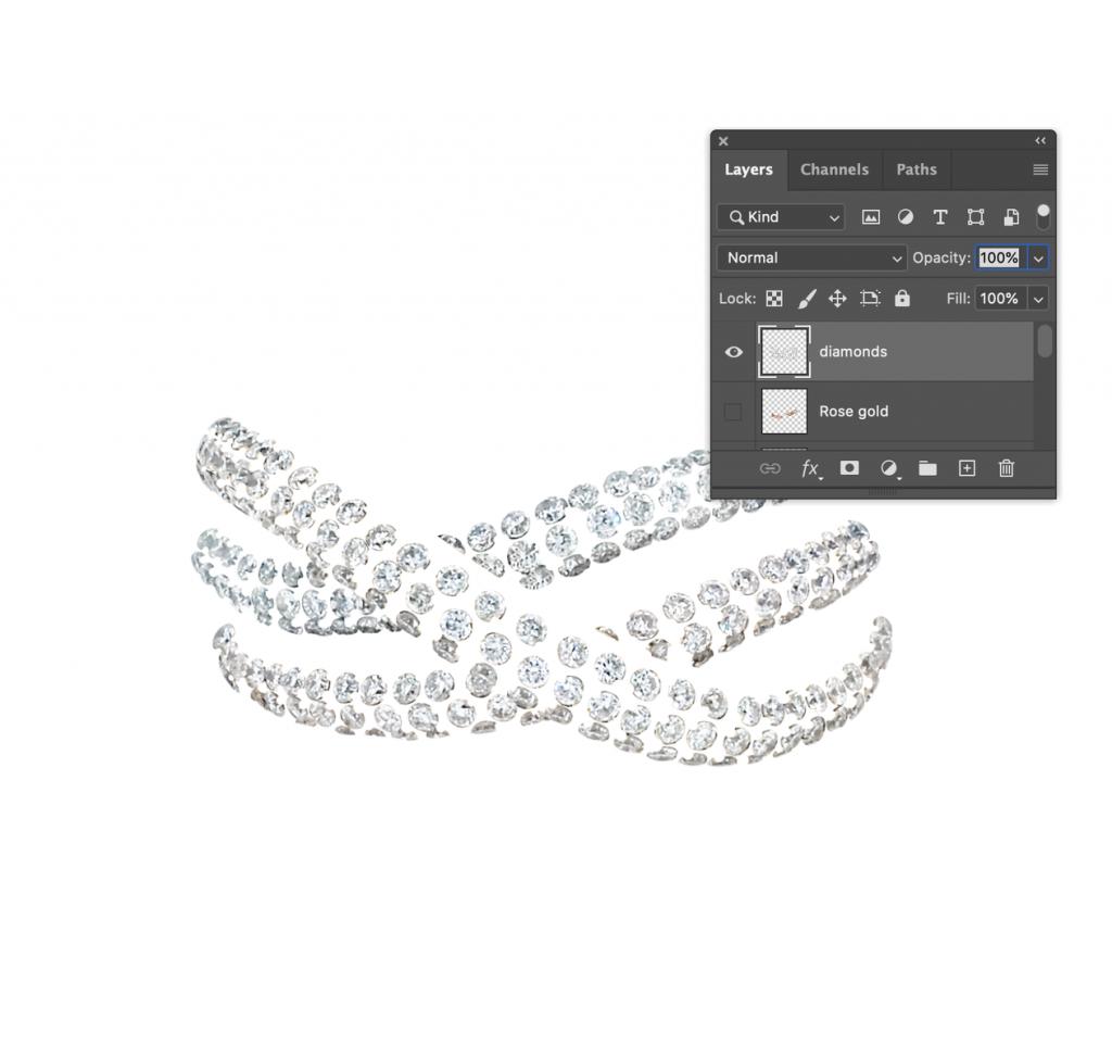 diamonds layer on Photoshop