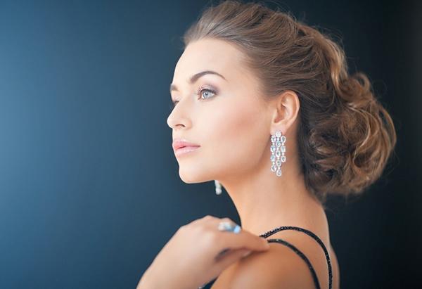 Live model earrings