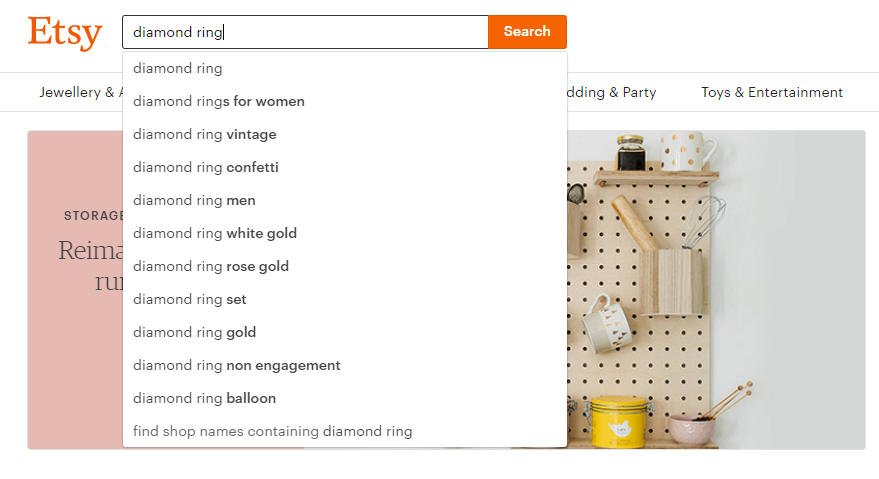 jewelry keywords and tags for etsy