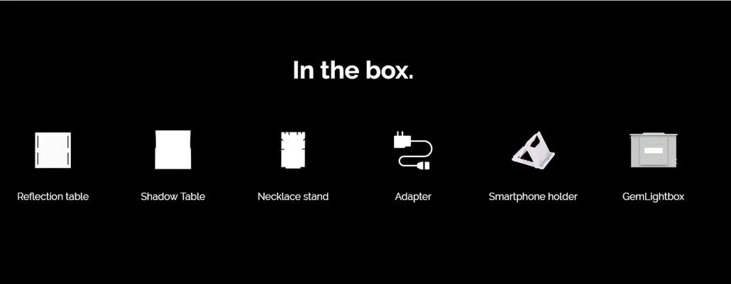 GEMLIGHTBOX kit accessories
