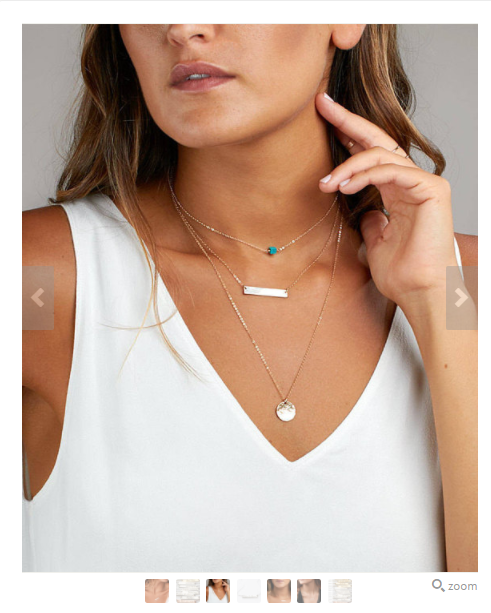 Use a mix of white background and lifestyle shots in jewelry photography