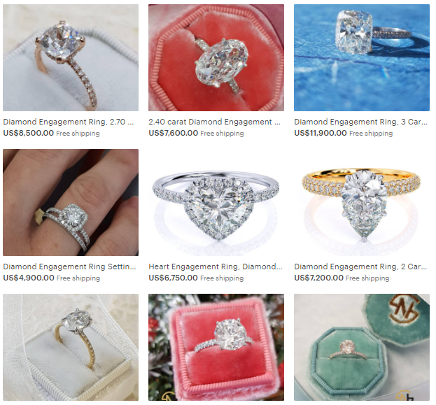Jewelry e-commerce tips - use the same background for the main photo