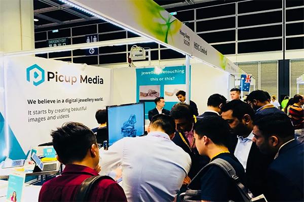 picup media busy booth hong kong september