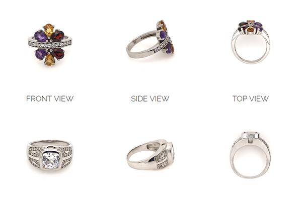 views of rings in gemlightbox