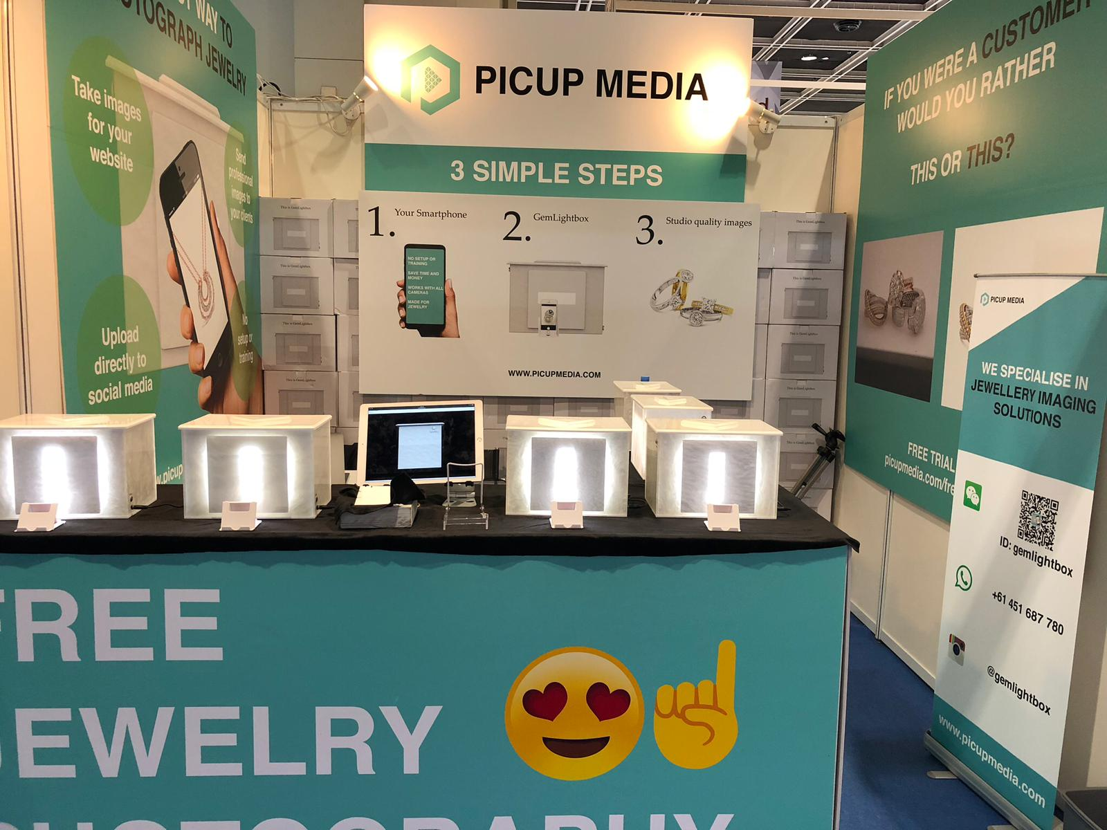 Picup Media booth Hong Kong Jewellery & Gem Fair June 2018