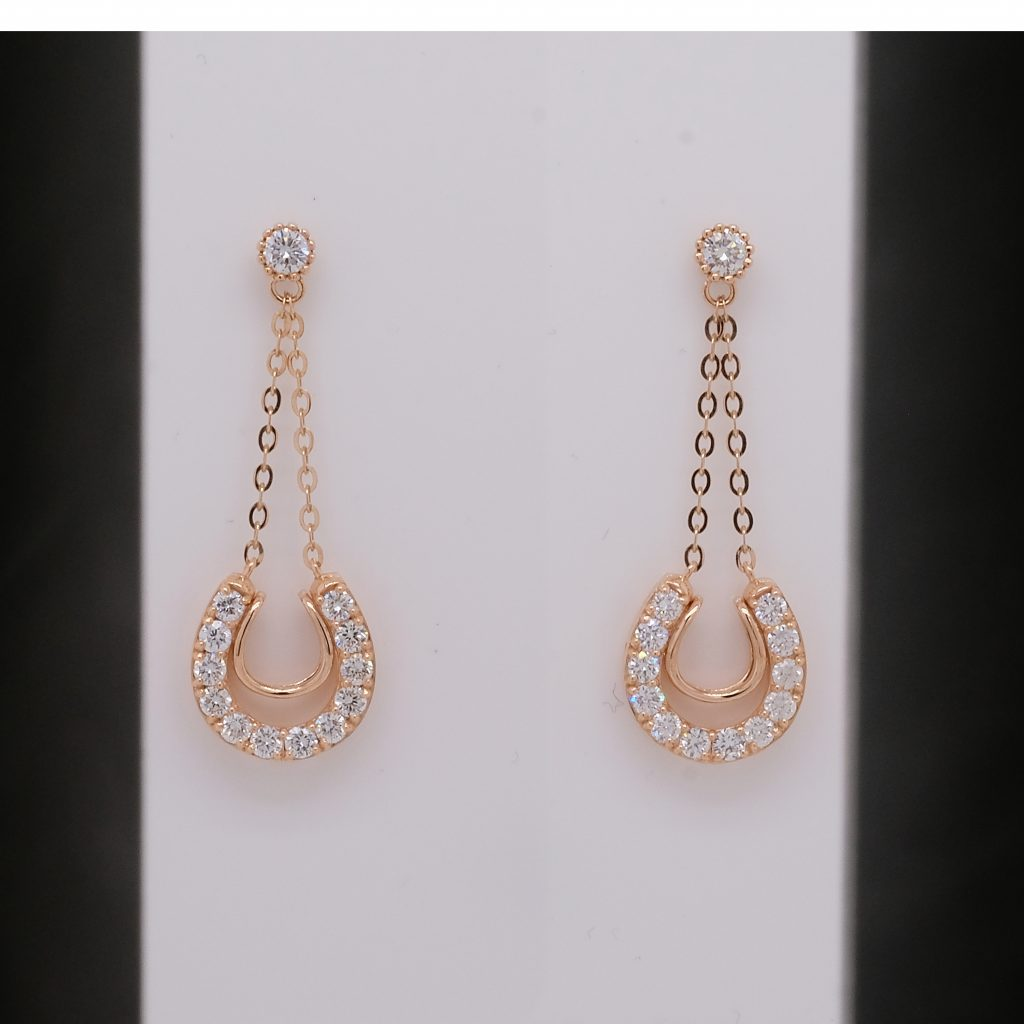 jewelry retouching service - earrings, before retouching