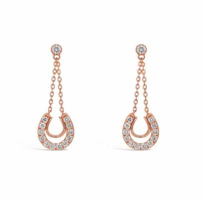 Retouched DSLR | Rose gold diamond earrings