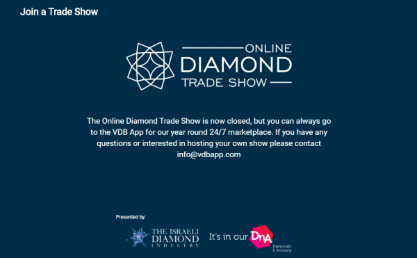 are online diamond trade shows the future