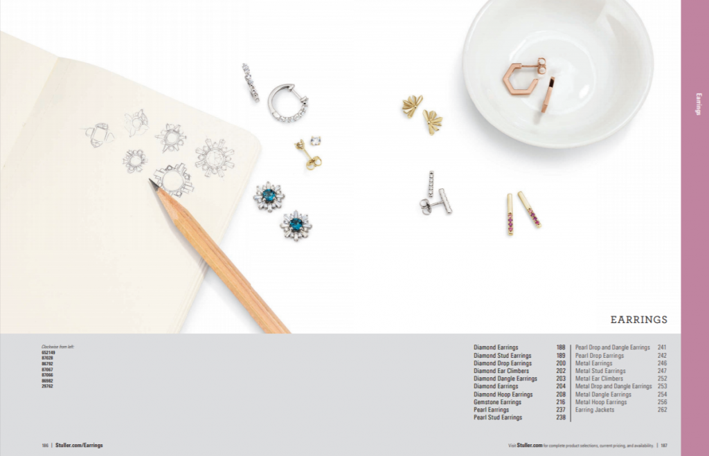Create jewelry catalog