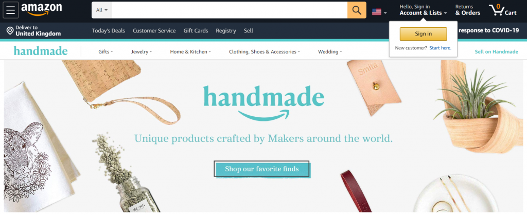 How to sell jewelry on handmade at Amazon