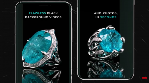 GemLightbox Eclipse for perfect black background jewelry images and videos