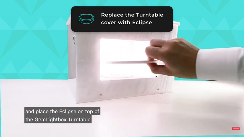Remove the original turntable cover