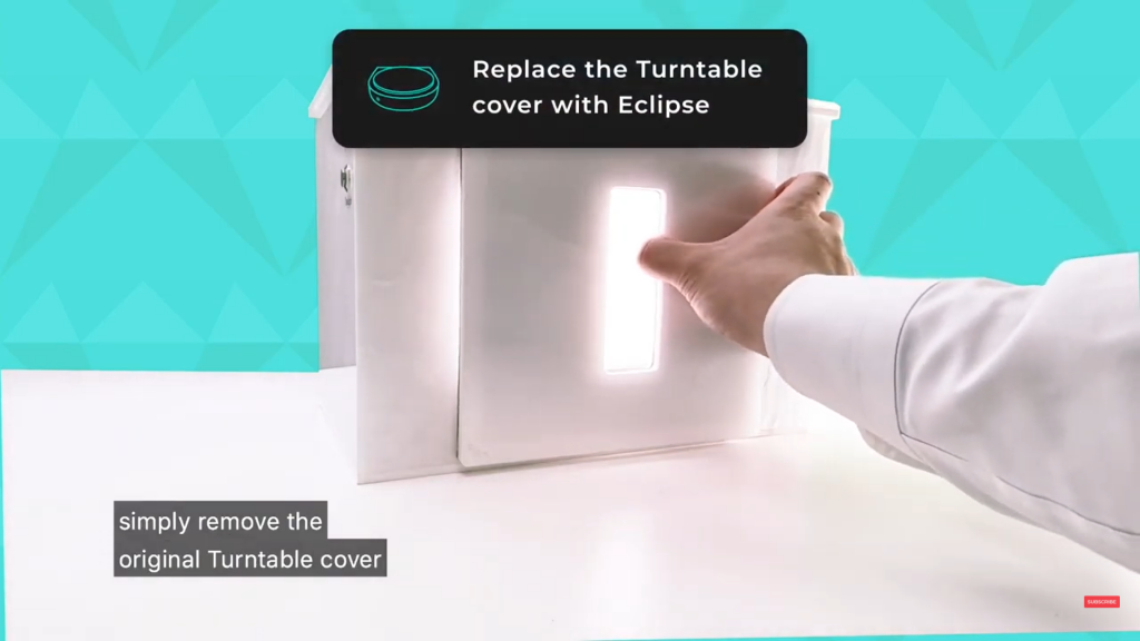 Remove the GemLightbox front reflector cover