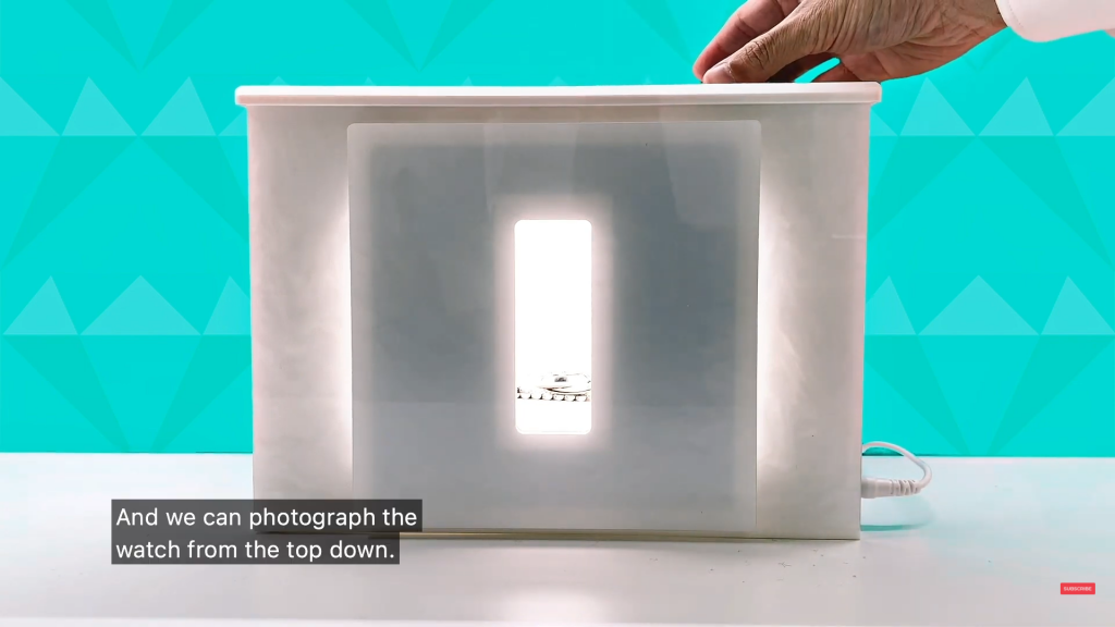 How to photograph a rolex watch from a top-view angle