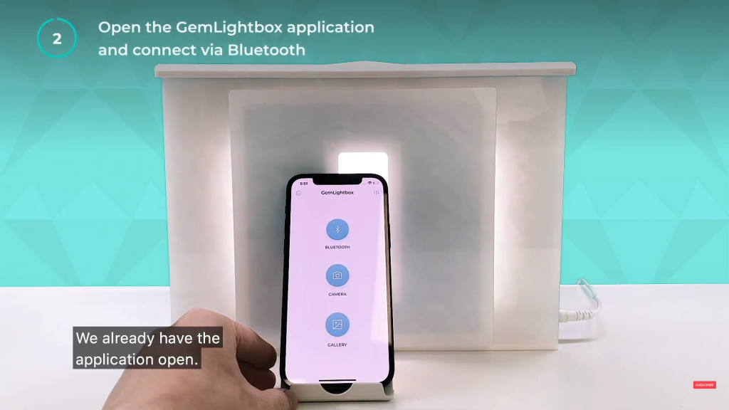 Step 3 Open the GemLightbox application on your iPhone 12