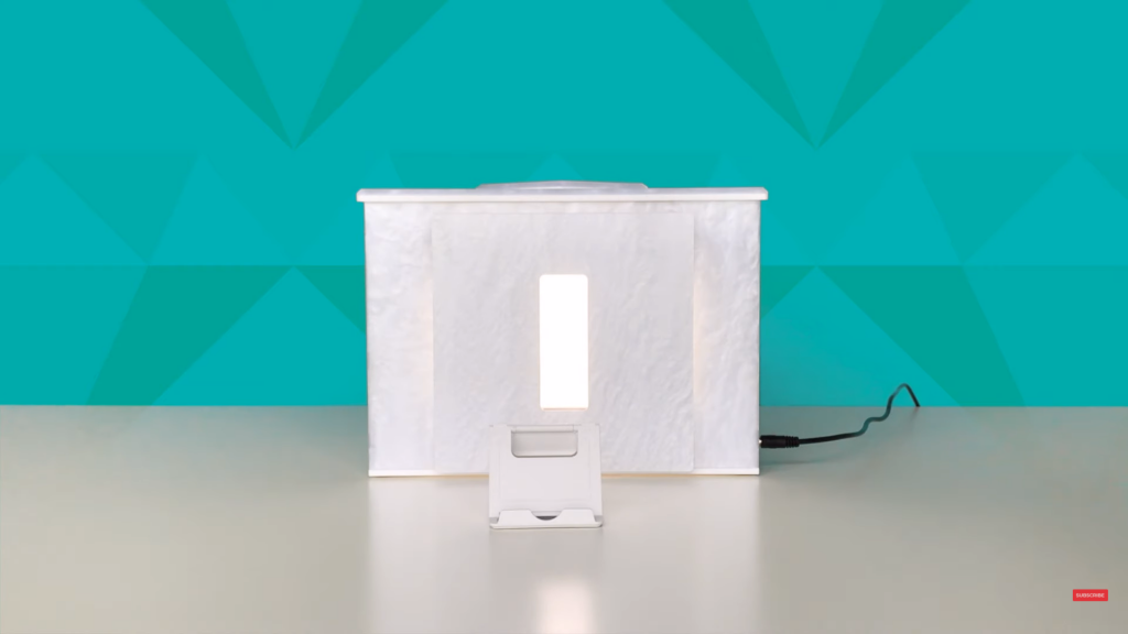 Connect the adapter and power up the GemLightbox