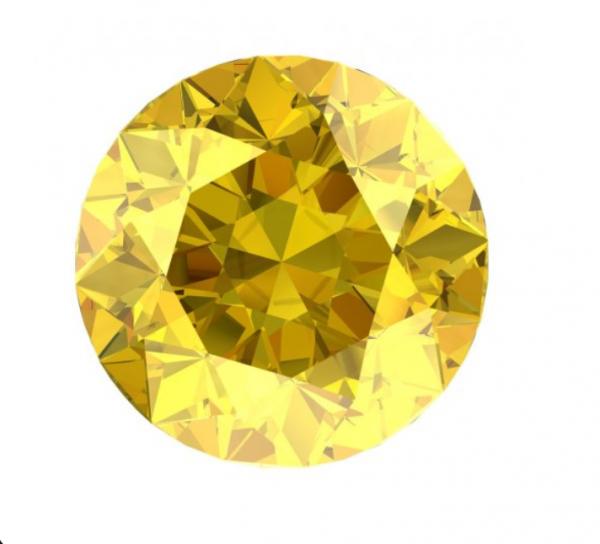 round diamond cut - Yellow diamond