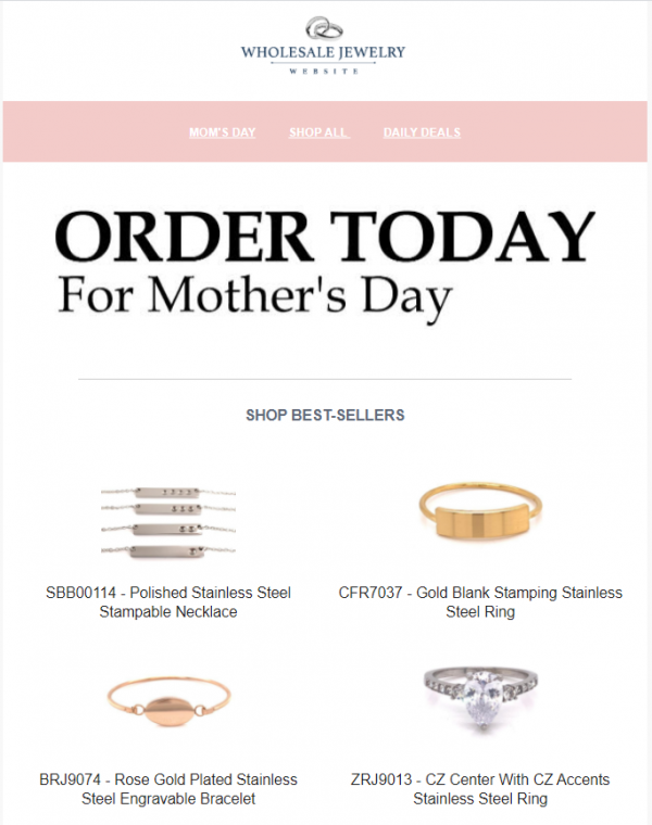 Jewelry marketing ideas for mother's days