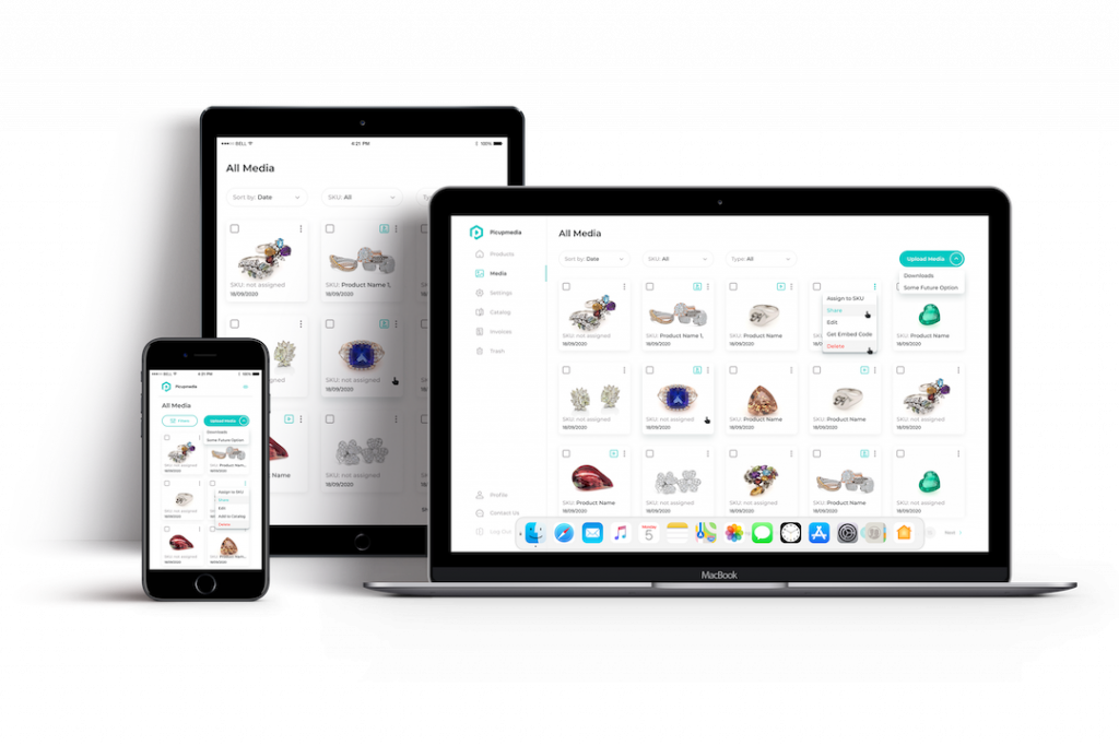 Jewelry Catalog Using Picup Media Cloud